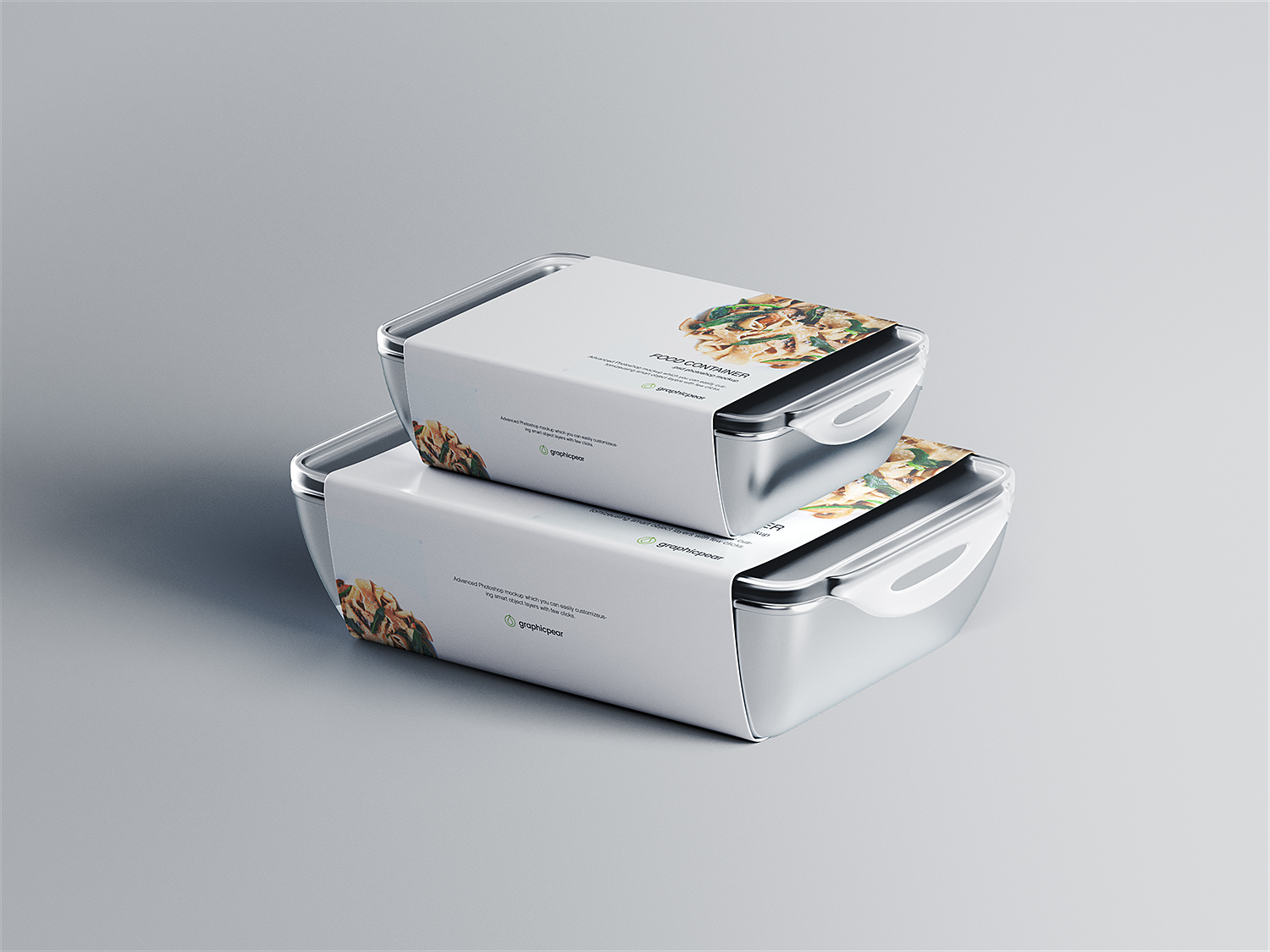 Food Container Packaging Mockup