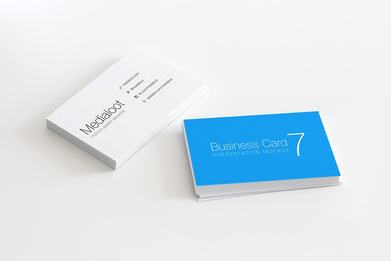 Business Card Stationery Mockup
