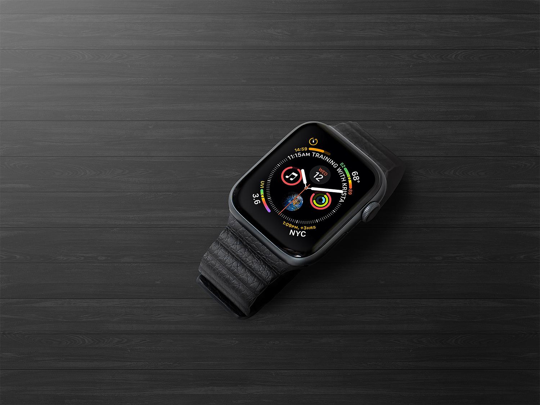Free Apple Watch Series 4 Mockup