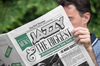 Free High-Quality Newspaper Mockup