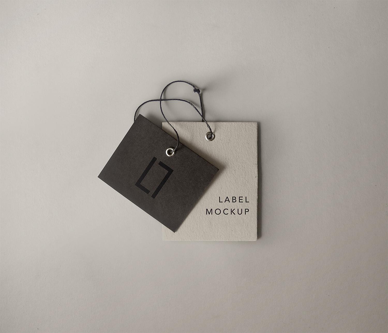 Free Label Brand Mockup