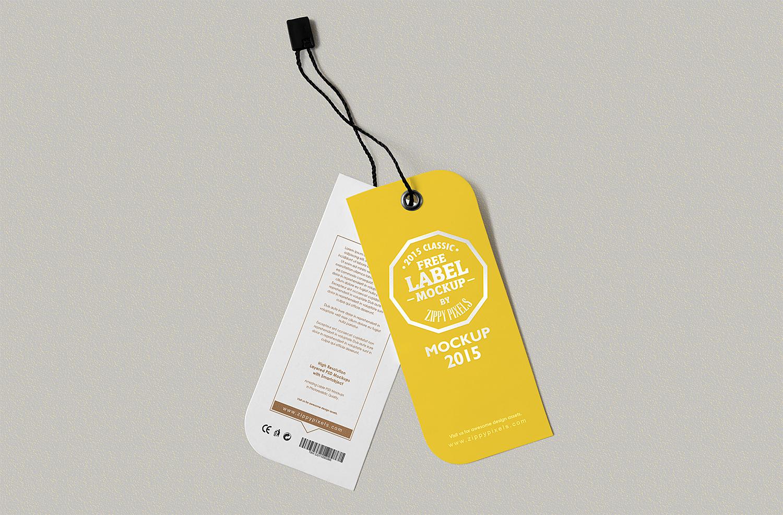 Free Label Tag Design Mockups