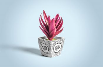 Free Plant Pot Mockup