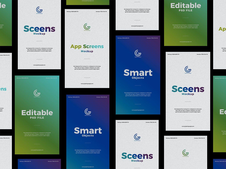 Free Screens UX/UI Design Mockup