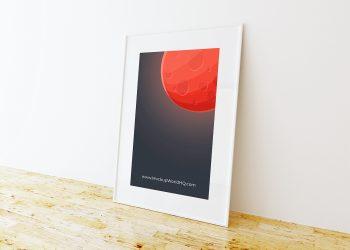 Free Single Poster Frame Mockup
