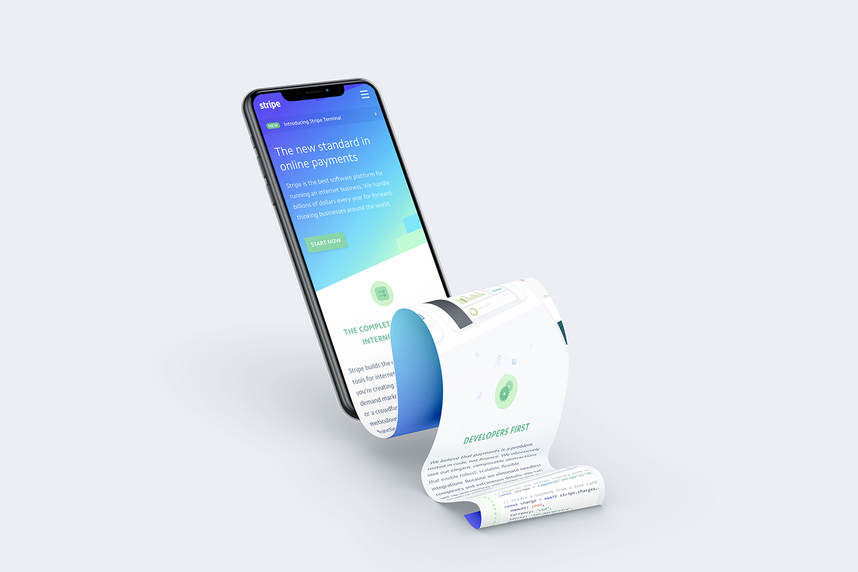 Free iPhone XS Long Scroll Design Mockup