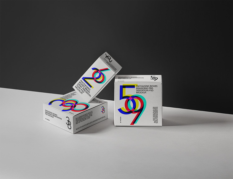 Packaging Box Mockup Set