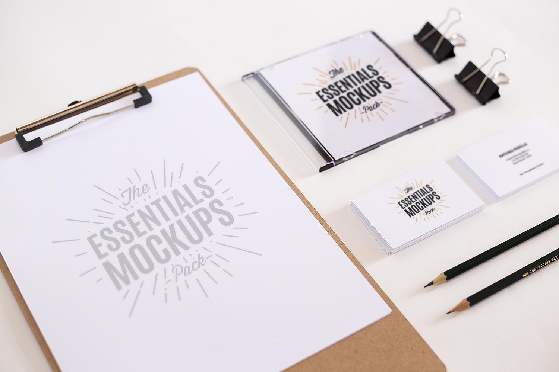 Scene Creator Mockup with a Business Card