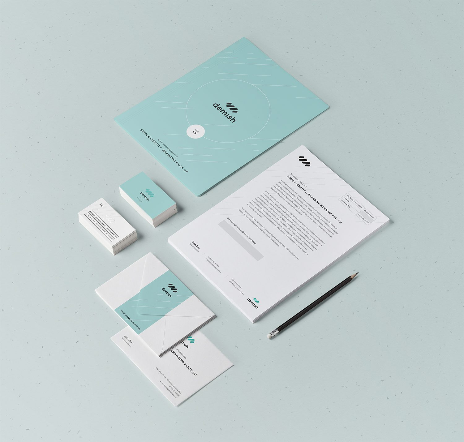 Free Stationery Branding Mock-Up