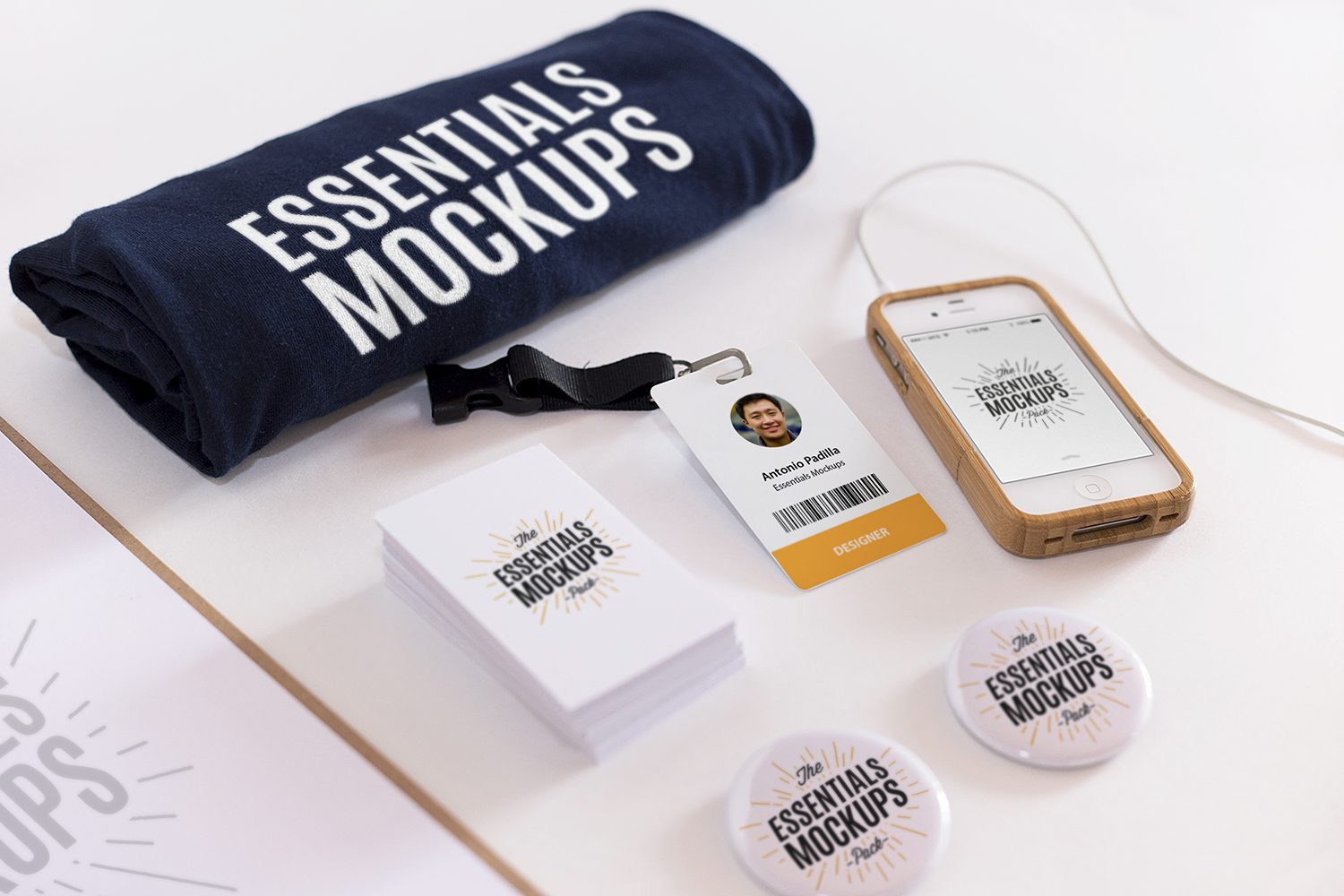 Scene Creator Mockup with a Business Card