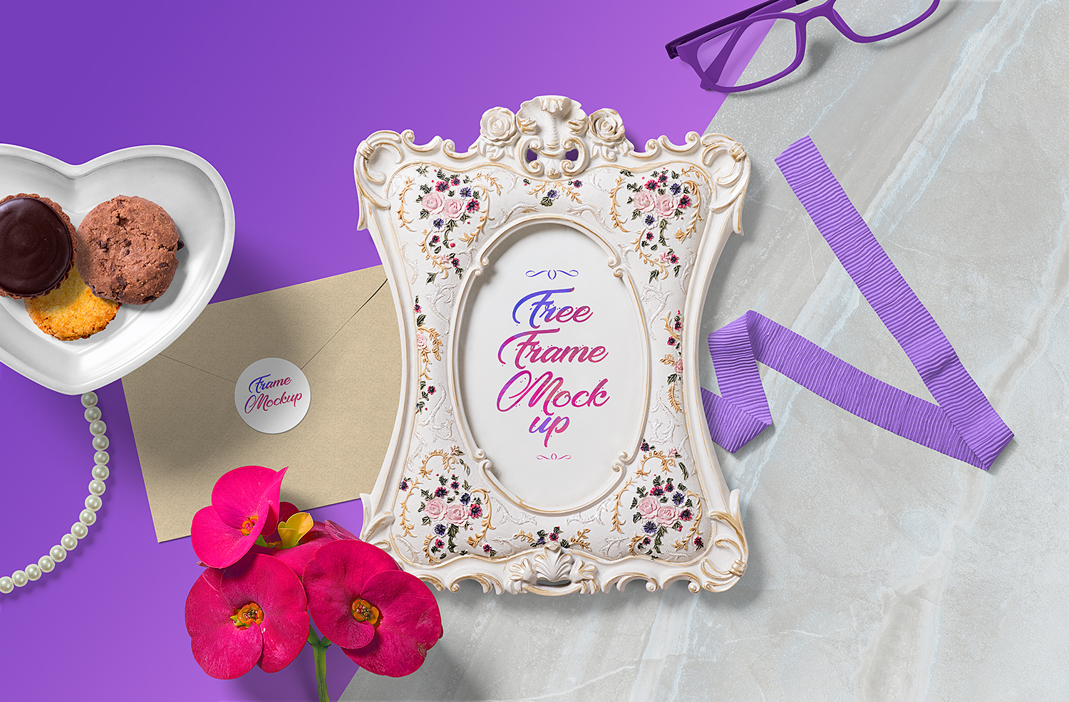 Free Gorgeous Picture Frame Mockup Scene