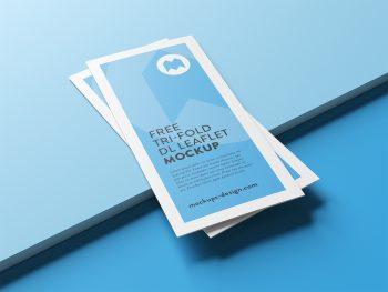 Free Tri-Fold Leaflet Mockup