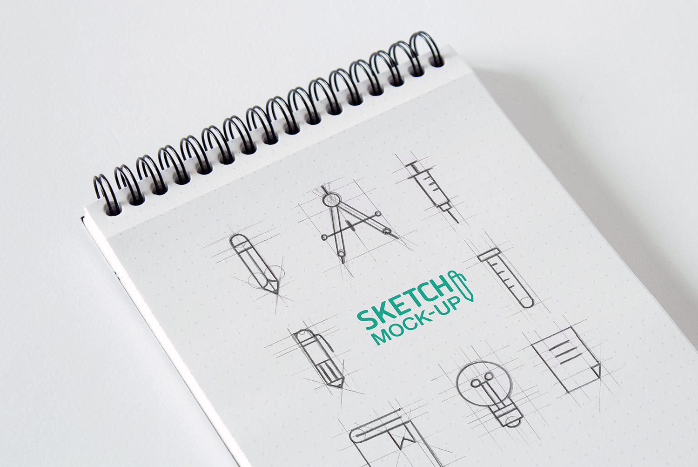 Sketchbook Mockups PSD