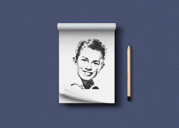 Sketchbook Notepad PSD Mockup