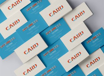 Stacked PSD Business Card Mock-Up