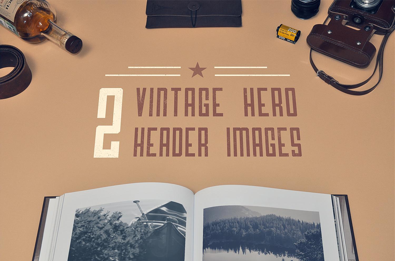 Vintage Hero Images Mockup