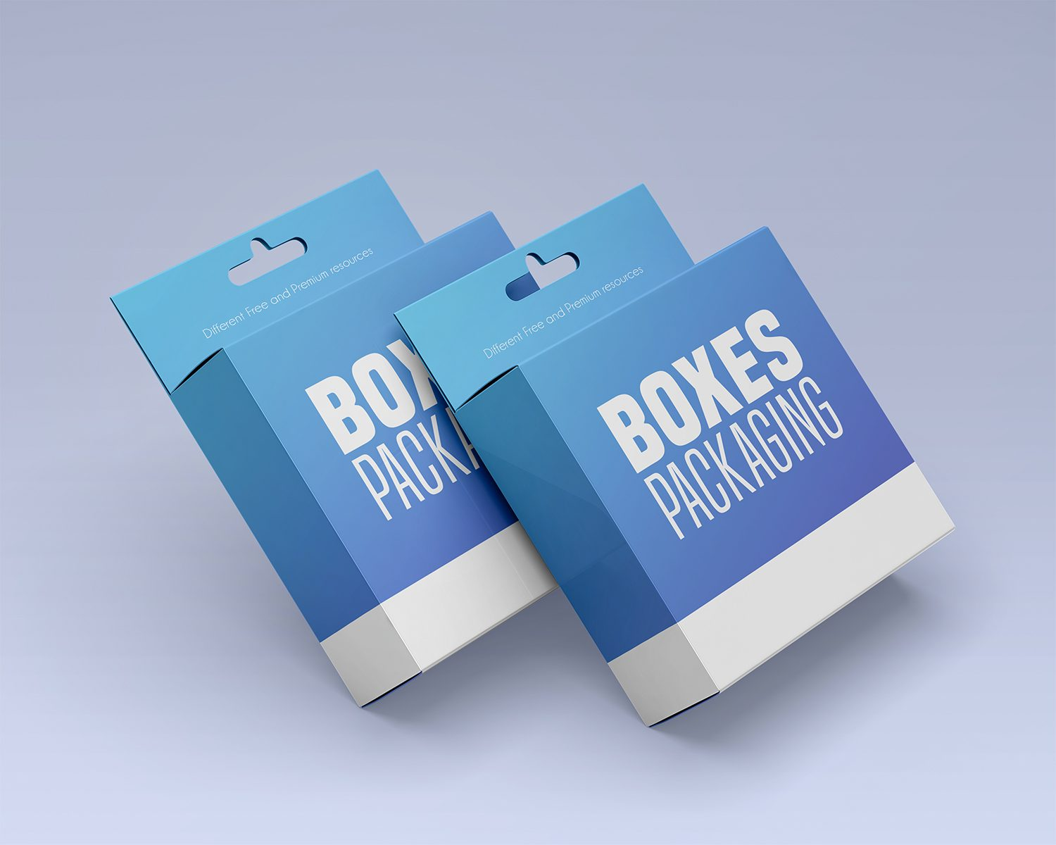 Free Box Packaging PSD Mockup Set