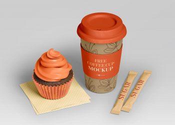 Free PSD Coffee Branding Set Mockup