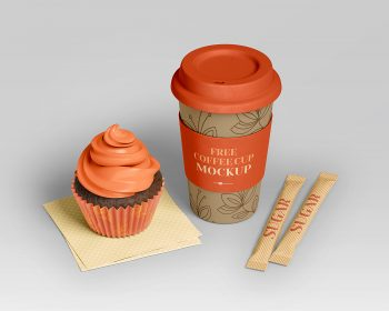 Free PSD Coffee Branding Set Mockup