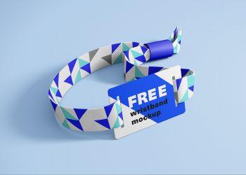 Free RFID Wristband Mockup