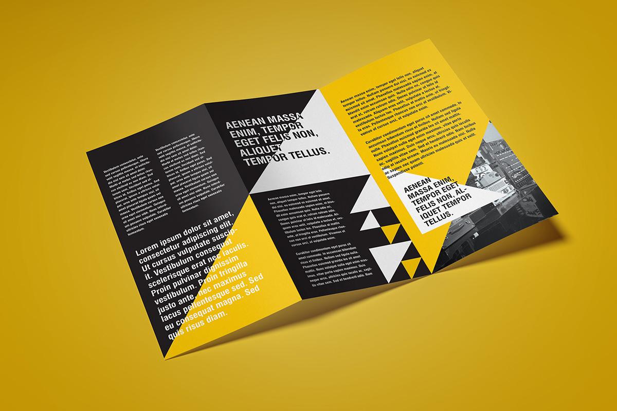 Free Z-Fold Flyer Leaflet Mockup