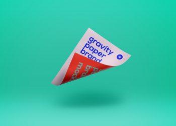 Gravity PSD Paper Mockup