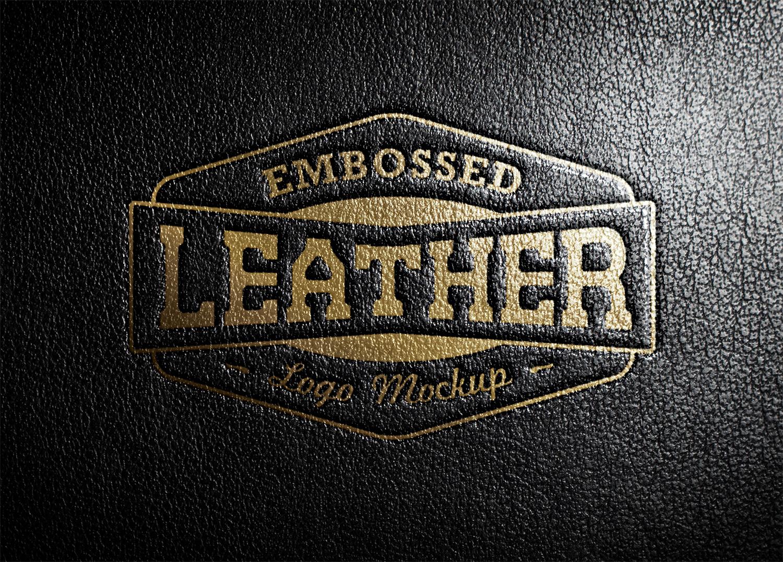 Leather Stamping Logo Mockup