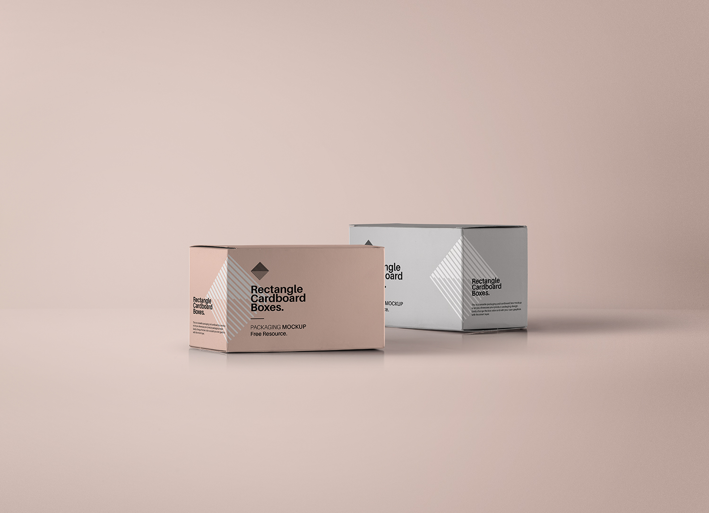 Rectangular PSD Box Mockup
