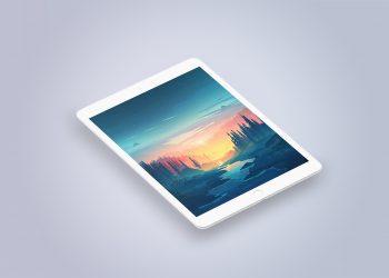 Clay iPad Pro PSD Mockup