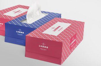 Free Premium Tissue Box Mockup