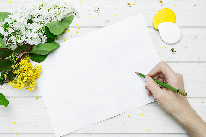 Hand-Drawn Sketch Paper Mockup