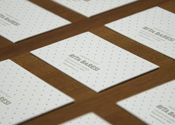 Letterpress B-Cards Perspective Mock-Up