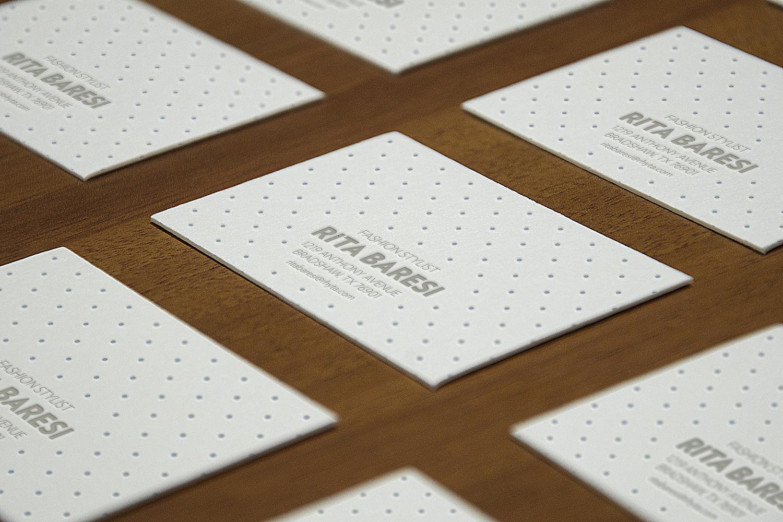 Letterpress B-Cards Perspective Mock-Up