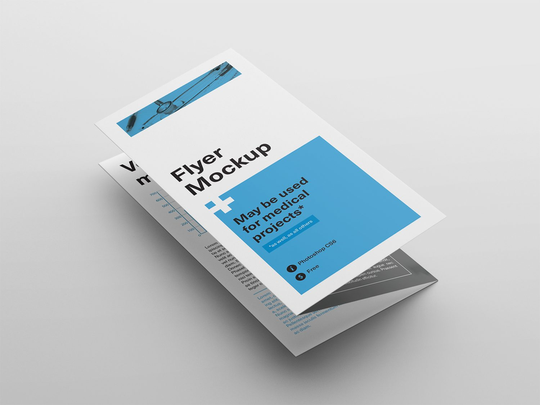 PSD Tri-Fold Flyer Mockup