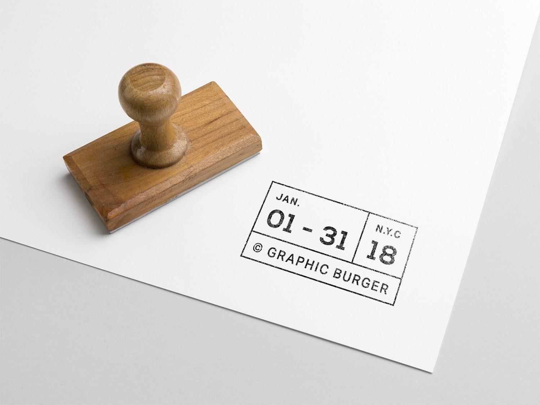Rubber Stamp PSD Mock-Up