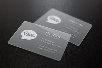 Translucent Business Cards Mock-Up