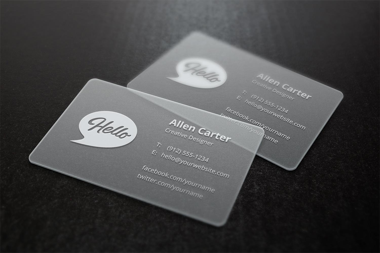 Translucent Business Cards Mock-Up
