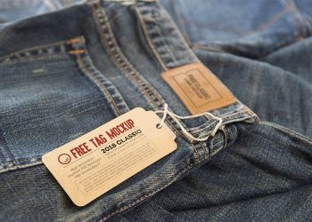 2 Free Clothing Label Tags Mockup