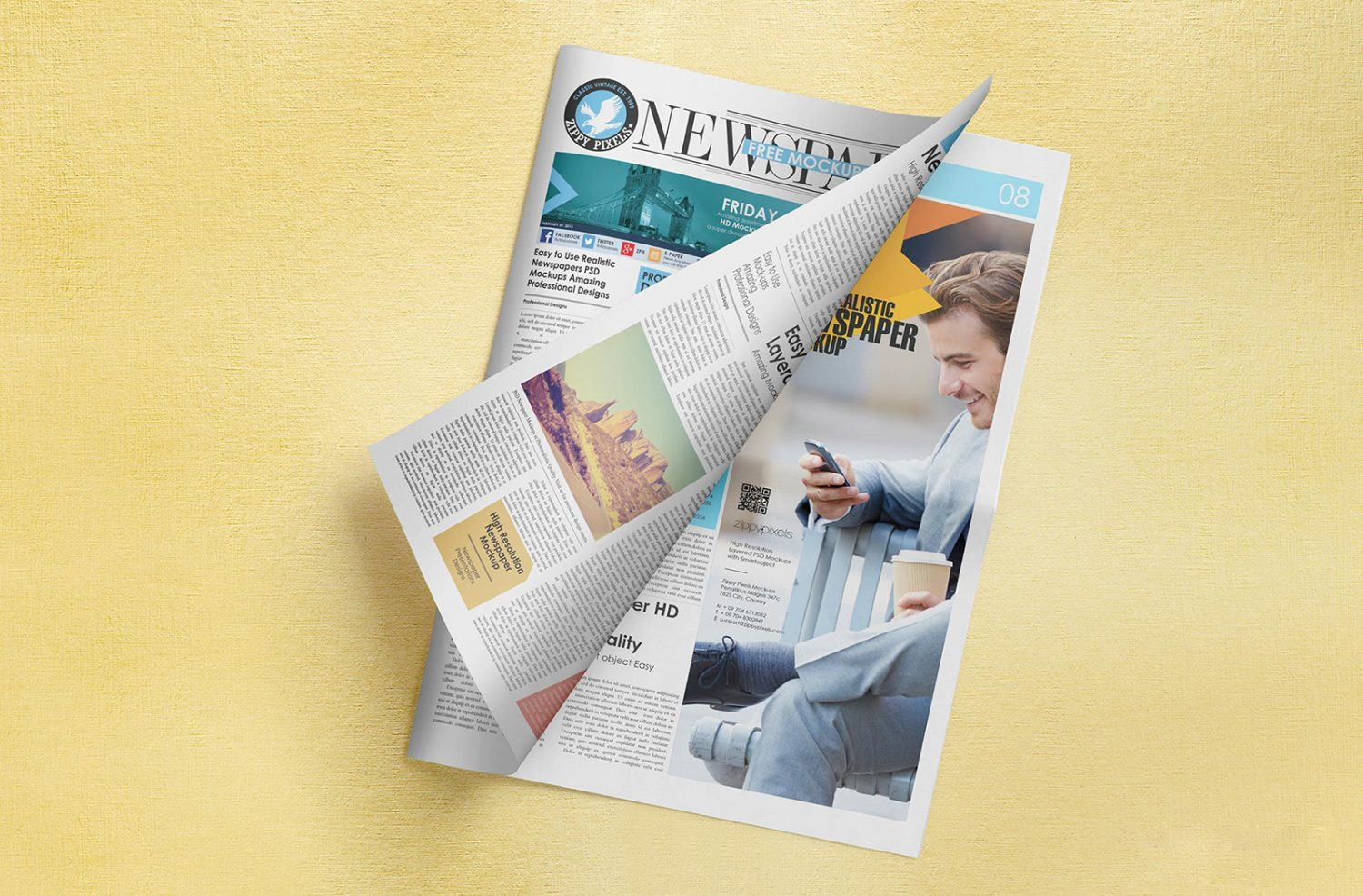 Free Newspaper Adverts Mockup
