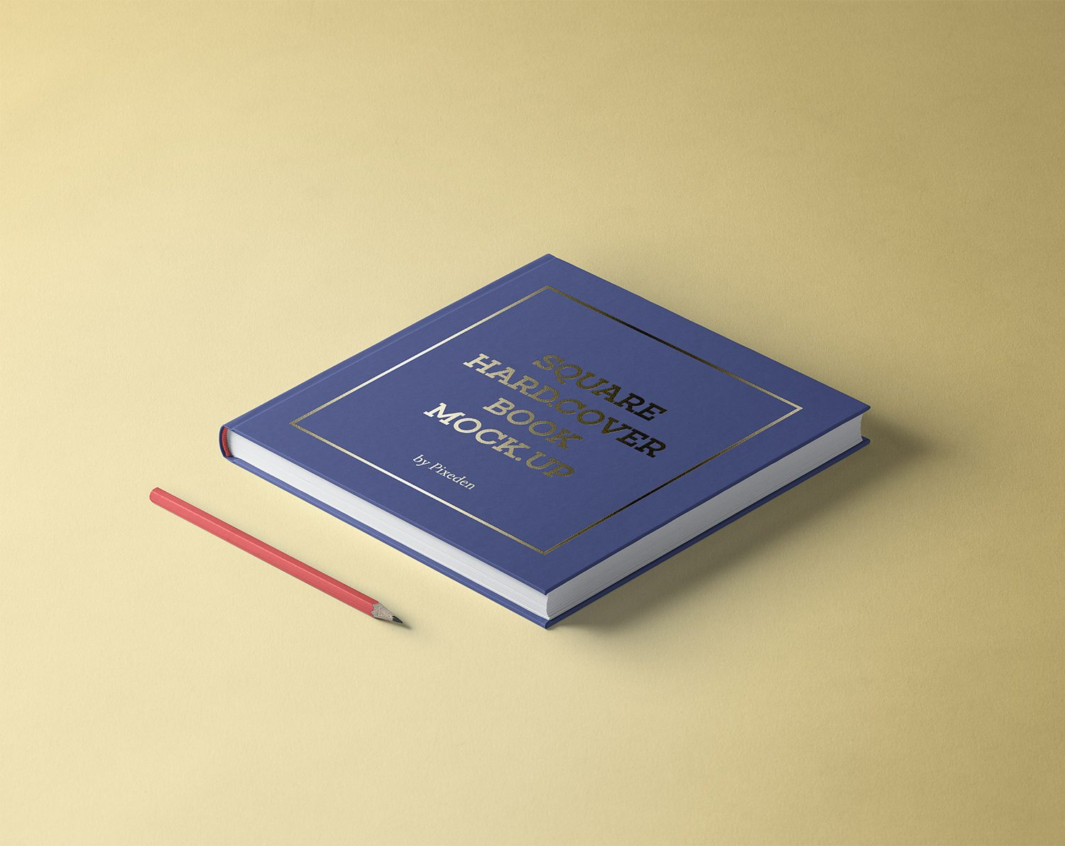 Square PSD Hardcover Book Mockup
