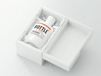 Bottle Logo Mockup PSD