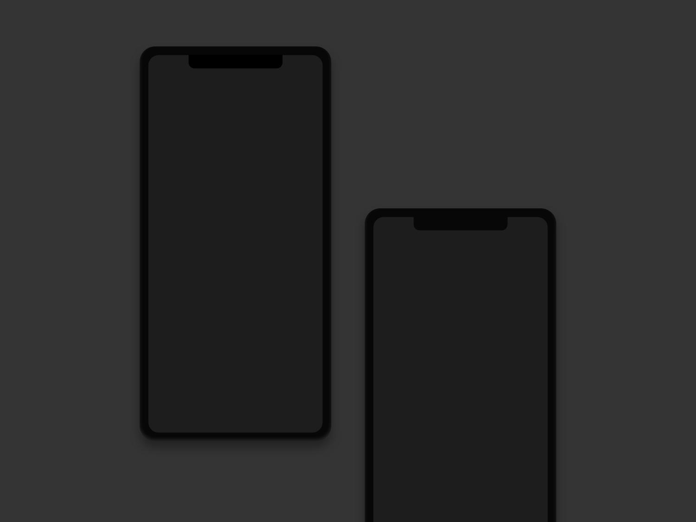 iPhone X Clay Sketch Mockup