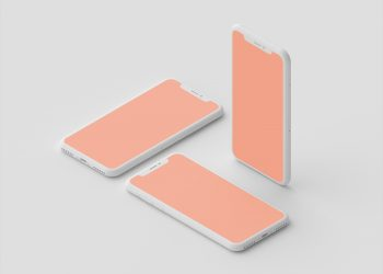 Clay iPhone X Mockup PSD