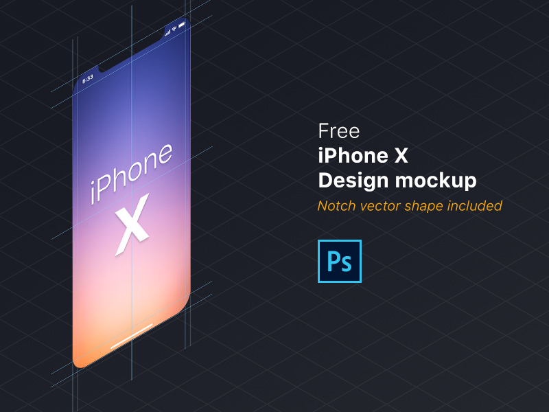 Free iPhone X Design Mockup