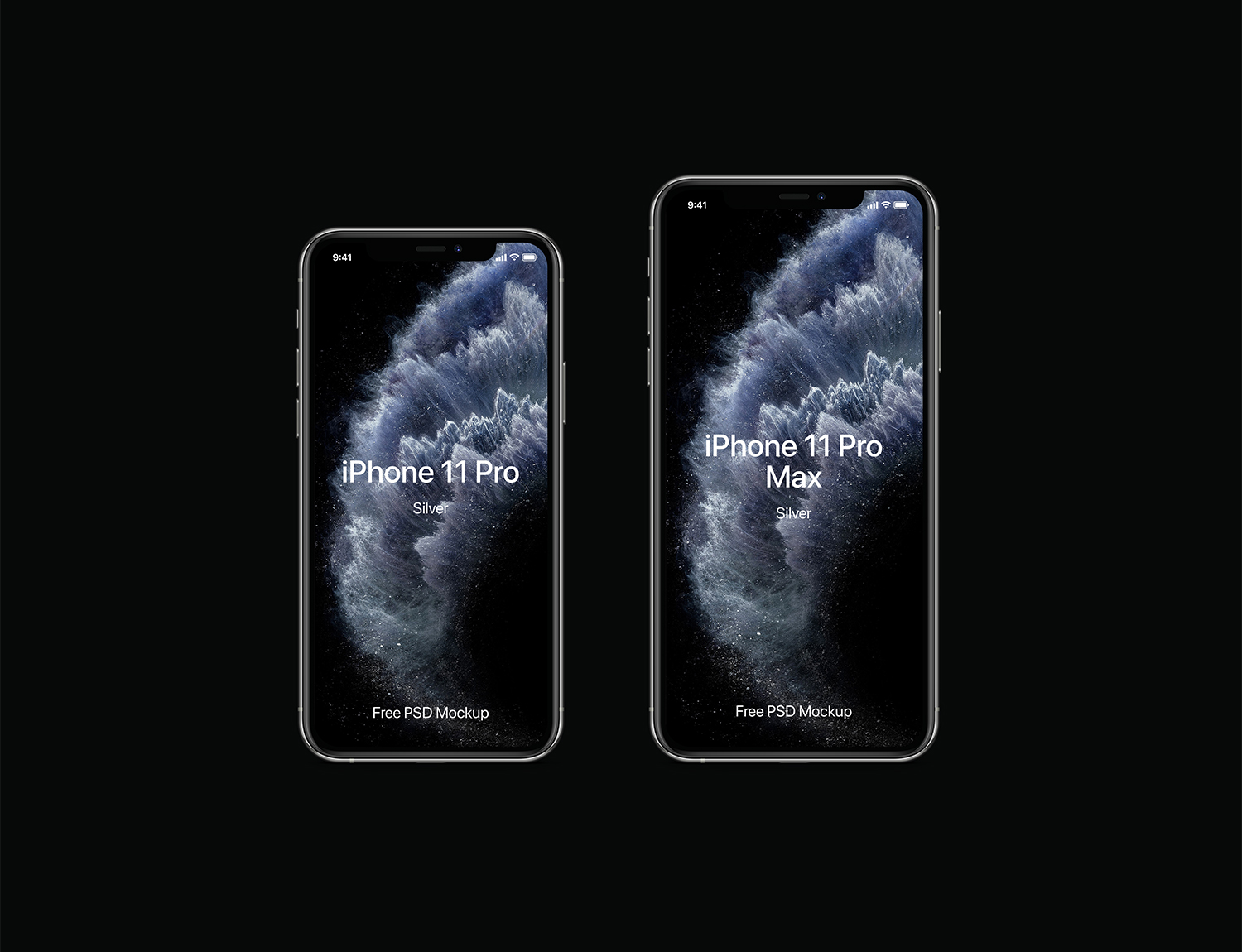 PSD iPhone 11 Pro Mockup Set