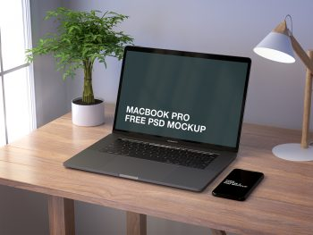 MacBook Pro and iPhone X Mockup