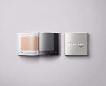 Square PSD Magazine Mockup