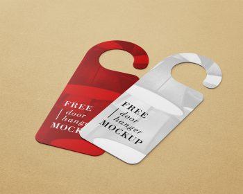 Free Door Hanger Mockup