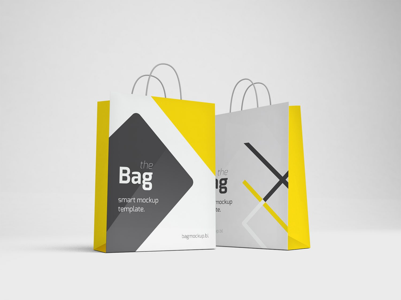 Free Square Shopping Bag Mockup