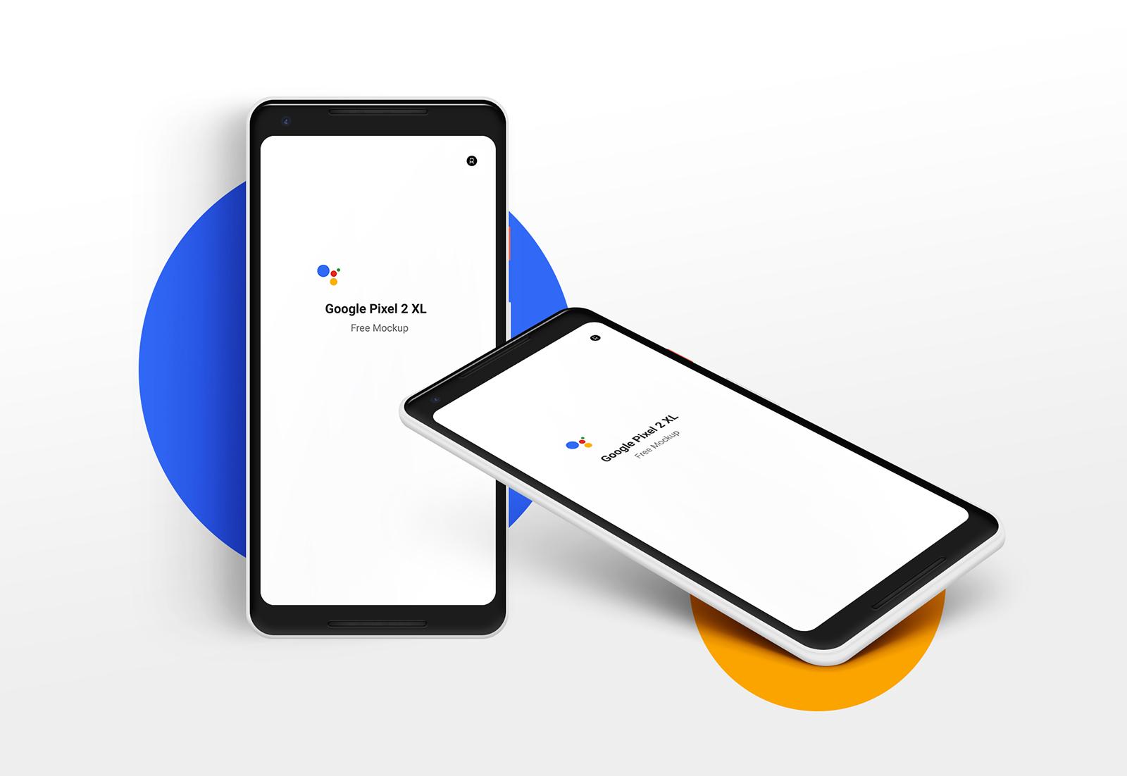 Google Pixel 2 XL Free PSD Mockup